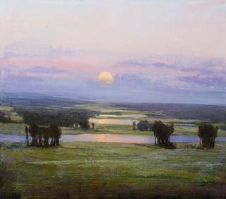 Moon Rising, 29x33, o/c