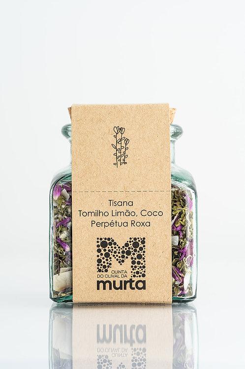Tisana de Tomilho Limão, Perpétua Roxa e Côco