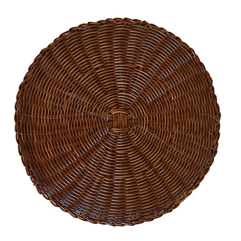 Set of 4 Synthetic Rattan Placemats - Brown - Set of 4