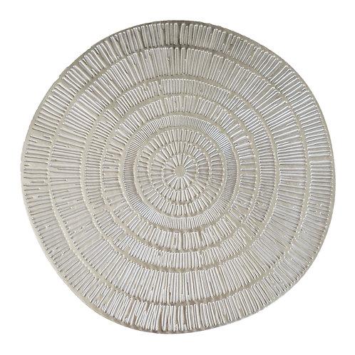 Silver Colour Circle PVC Placemat