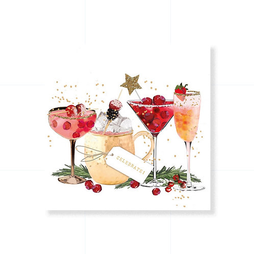 Cocktail Size Paper Napkins - Celebrate! - 20 pack