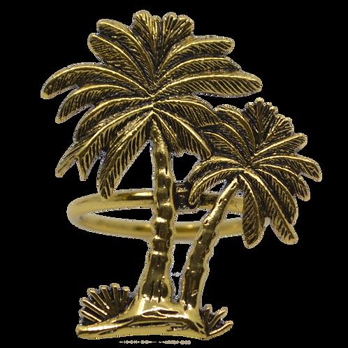 Brass Colour Palm Tree Napkin Ring