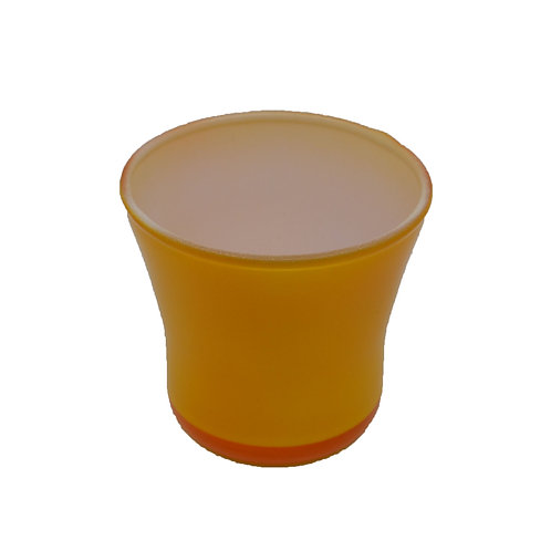 Coloured Glass Candle Votive Yellow