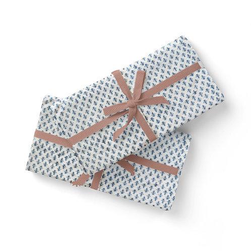 Set of 6 Hand Block Printed Blue Cloth Napkin