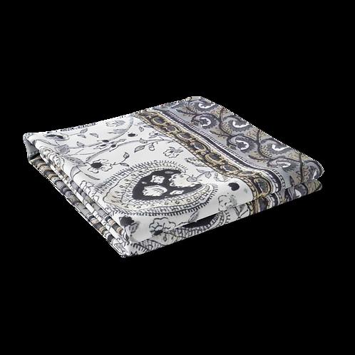 Block Printed Tablecloth 'Pan Leaf Dusk' *Rectangle