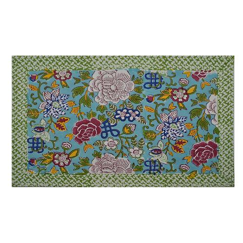 Floral 'Blue Jade' Placemat -  2 pc set