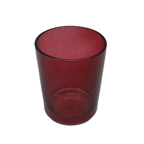 Coloured Glass Candle Votive Clear Plum