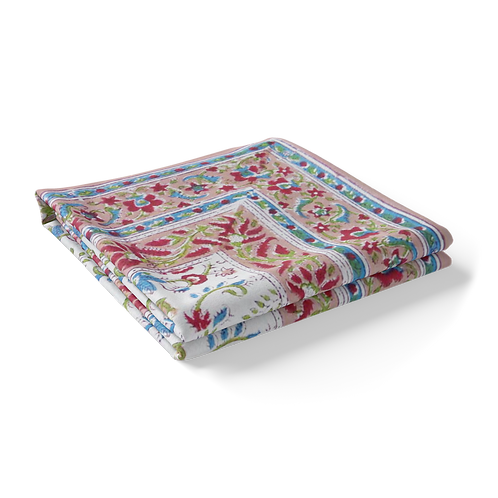 Block Printed Tablecloth 'Genda Bale' *Rectangle