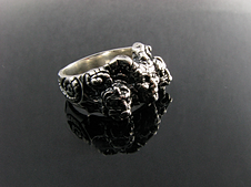 Teena dickerson art jewelry and sculpture thank you jewelry gargoyle ring three figure 2010 aloadofball Gallery