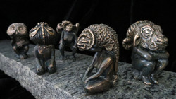 Series of Prayer Figures