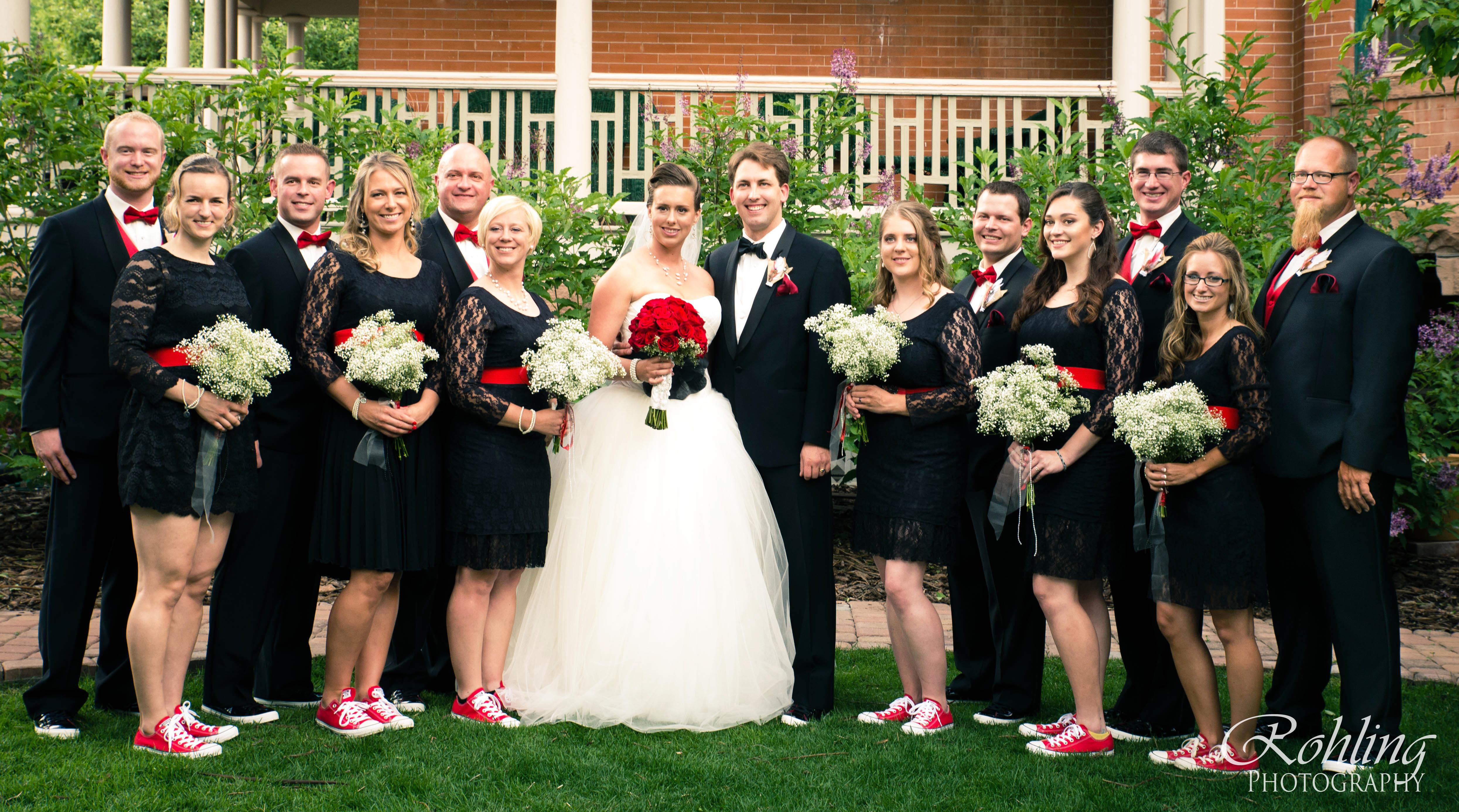 Wedding party in Lakewood Colorado