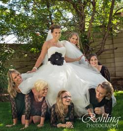 Wedding dress hiding
