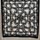 Thumbnail: Mantón Negro bordado en blanco roto de cadenas