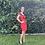 Thumbnail: Vestido en tejido de damasco