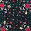 Thumbnail: Mantón Negro rosa fucsia mariposa mediano