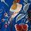 Thumbnail: Mantón Azul Klein Aves y Flores
