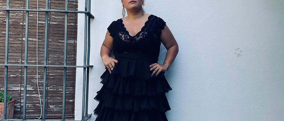 Falda Laranjeira - Georgette