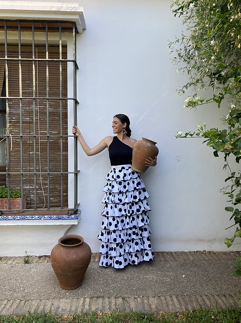 Falda Laranjeira - Lunares