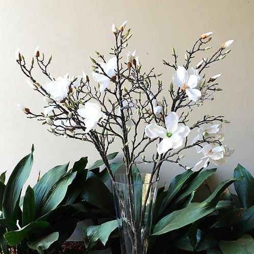 Magnolia Tree Branch Bouquet - White