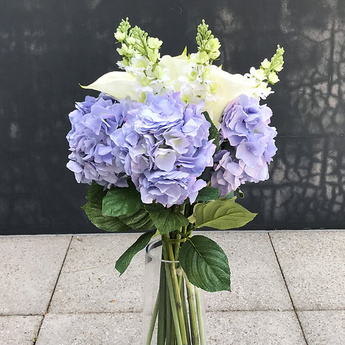 Hydrangea, Large Calla Lily & Stock Flower Bouquet