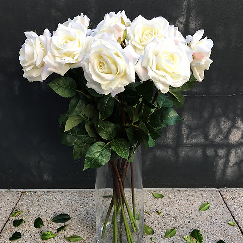 Garden Rose Bouquet - White