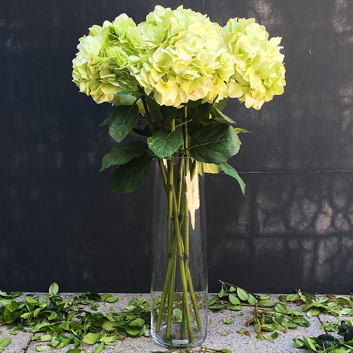 Mop Head Hydrangea Bouquet - Green/Pink