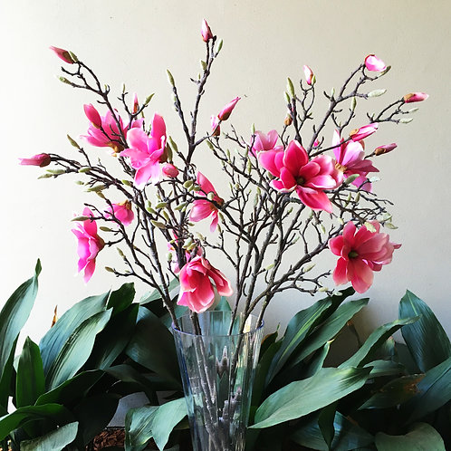 Magnolia Tree Branch Bouquet - Pink