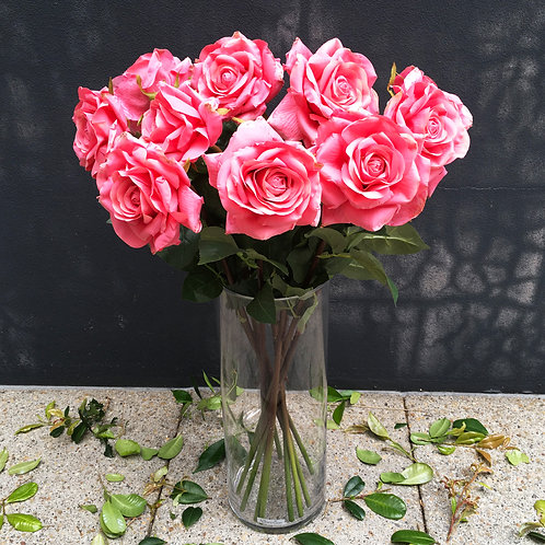 Garden Rose Bouquet - Coral Pink