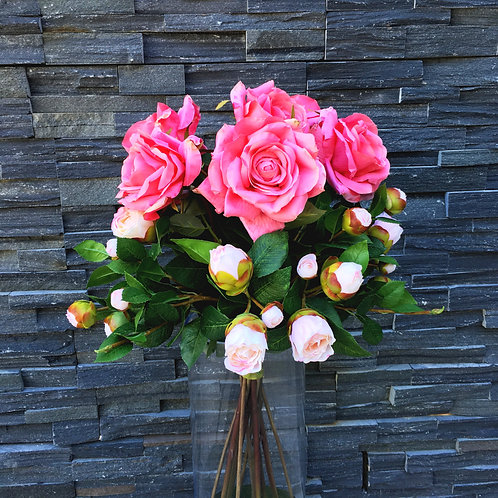 Garden Rose and Camelia Bud Bouquet
