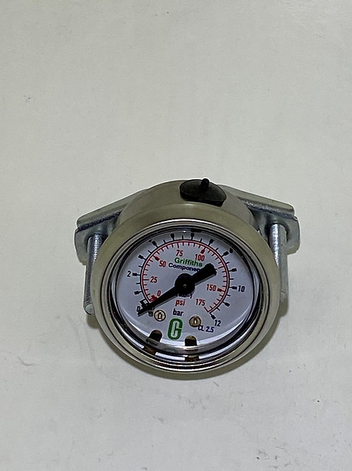 GAU-005A - Small gauge for filter regulator lubricator with bracket