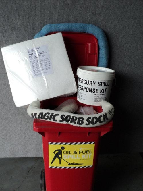 SKA-001 - Oil & Fuel 120 Litre Wheelie Bin Spill Kit