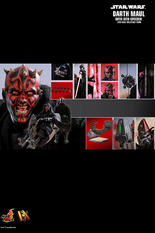 Hot Toys DX17 Star Wars Episode I: The Phantom Menace Darth Maul with Sith Spee