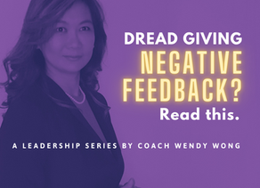 Dread Giving Negative Feedback? Read this.