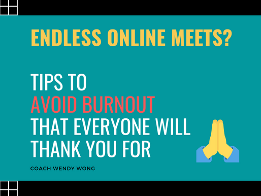 Endless Online Meets?  Tips to Avoid Burnout That Everyone Will Thank You For