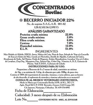 Becerro Iniciador 22% Bovilac