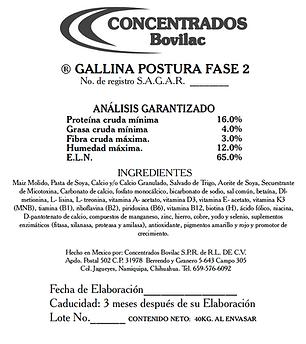 Gallia Postura Fase 2 Bovilac
