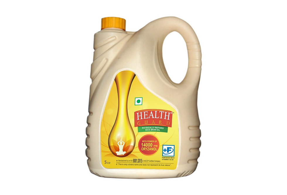 HEALTH GUARD PHYSICALLY REFINED RICE BRAN OIL