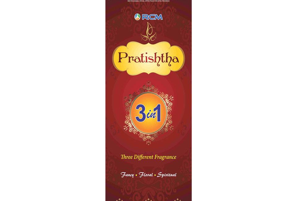 Pratishtha Family Pack Agarbatti(3 In 1)