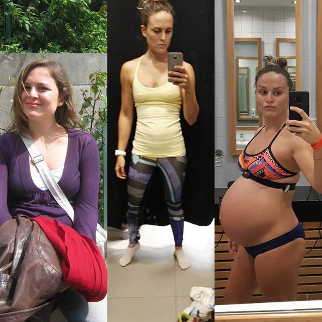 losing fat while pregnant