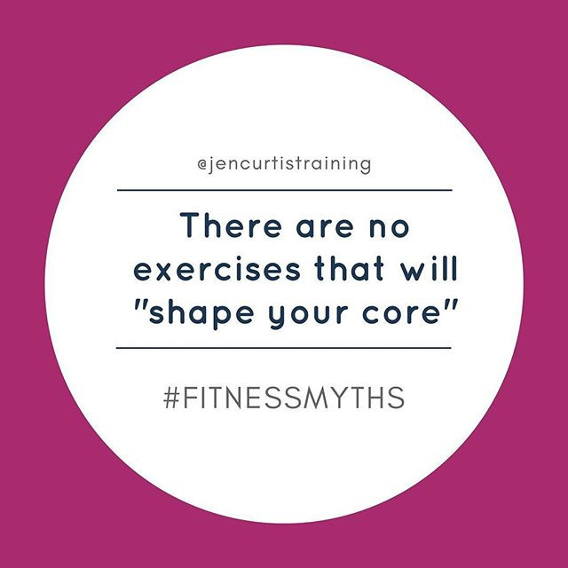 "There are NO exercises that will ""shape"" your core // Fitness Myths"