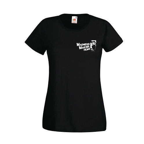 WOMENS MMF FITTED BLACK T-SHIRT