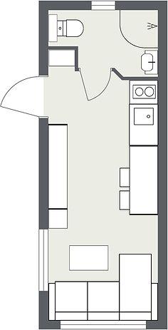 Planlösning minihus Lilja plan 1
