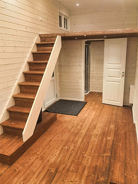 Tiny house interior without furniture