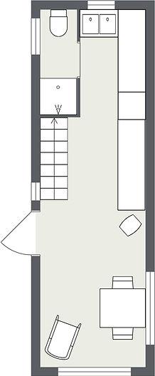 Tiny Home planlösning Cecilia plan 1