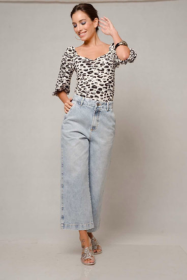 Calça Jeans Baby Flare