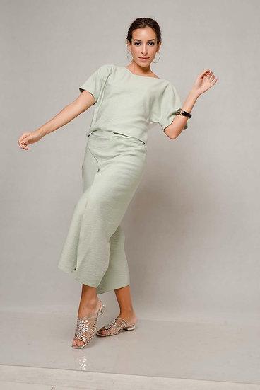 Blusa Linen Bicolor