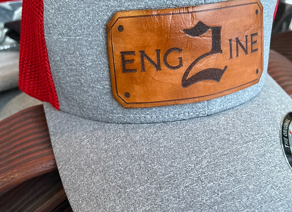 Leather Stained Shield Insert Hat