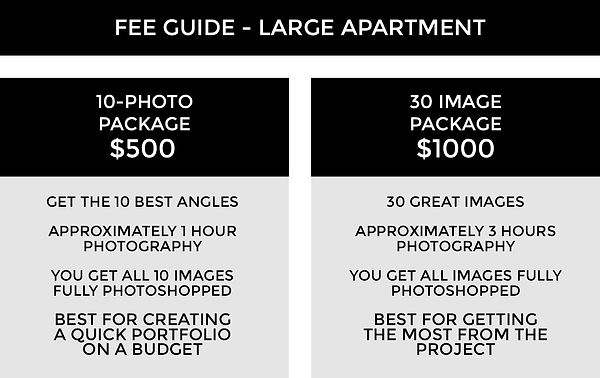 FEE GUIDE TEMPLATE 3B - Apartment Large