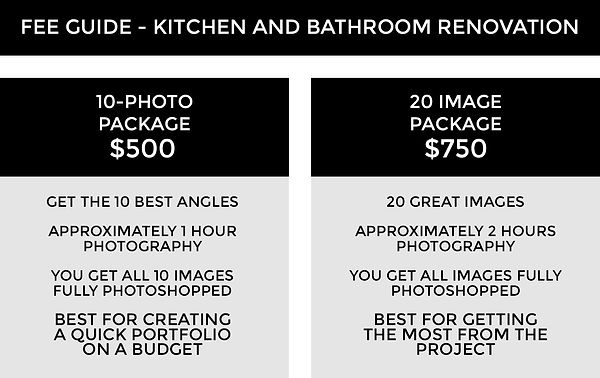 FEE GUIDE TEMPLATE 3A - Kitchen Bathroom