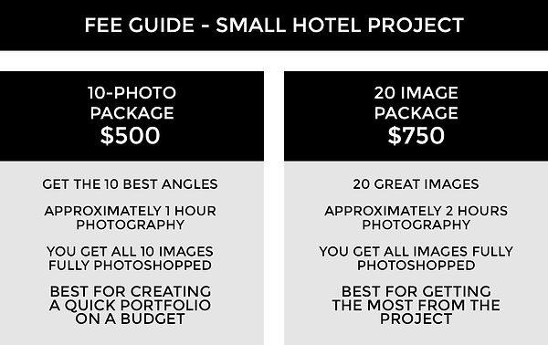 FEE GUIDE TEMPLATE 3A - Small Hotel Proj